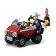 Sluban Bouwstenen Fire Serie Brandweer Jeep