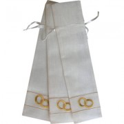 NEW! Cotton Favour Bags for Fans (Gold Rings)