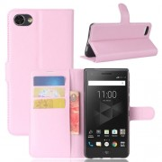 For BlackBerry Motion Litchi Texture Horizontal Flip Leather Case with Holder & Card Slots & Wallet(Pink)