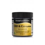 Simply Supplements CBD & Cúrcuma con pimienta negra - 60 Cápsulas