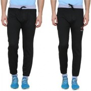 Swaggy Solid Mens Track Pants Pack of 2