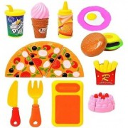 Fast Food Lunch Play Set Pizza Set Toy for Kids Restaurant Role Play Pretend Play