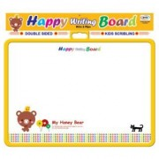 toyztrend educational happy writing board yellow for kids to write and learn their preschoollessons