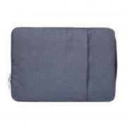 15,4 pouces Sacs à bandoulière portables pour ordinateur portable universel Portable Zipper Sacoche pour ordinateur portable MacBook Air / Pro, Lenovo et autres ordinateurs portables,(bleu foncé)