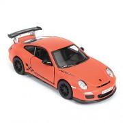 Kinsmart 1:38 Scale Model 2010 Porsche 911 GT3 RS Toy Car, Multi Color (Orange)