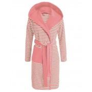 Esprit Dámská župan s kapsami, růžové pruhy, župan s kapucí, kabát po koupeli, 100% bavlněné froté, Esprit - XL