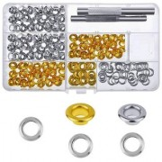 DIY Crafts Grommet Setting Tool Metal Eyelets with Storage Box 1/4 inch Inside Diameter(Pack of 154 Pcs)