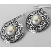 Cercei din argint - perla E2017 (Piatra: perla de cultura, Categorie: cercei)