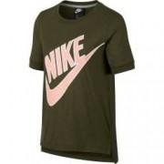 Tricou femei Nike NSW TOP SS PREP FUTURA cachi M
