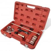 vidaXL Hydraulic Wheel Hub Puller with Hammer Set 10 Ton