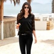 Rosemunde Copenhagen kanten blouse, 34 - zwart
