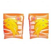 Oranje dolfijn zwembandjes opblaasbaar 25 cm
