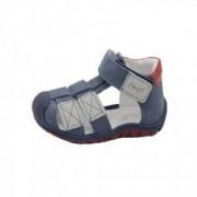 Sandale din piele naturala realizate manual pentru primii pasi EMEL E2187-15 Bleumarin 23