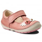 Pantofi CLARKS - Softly Blossom 261336336 Baby Pink Leather