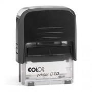 Szövegbélyegző Printer C20 átlátszó ház 14x38 mm