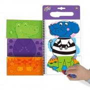 Carte de colorat pentru copii Galt Jungla vesela, 6 imagini reutilizabile