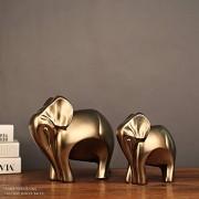Zhengtufuzhuang Resina Artesanía Regalo Creativo Estudio Decoración Imitación Americana Cobre Elefante Afortunado, Fuerte Sentido De Tridimensional Bien Hecho
