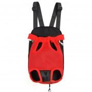 Mochila Para Transportadoras Mascotas Delantero Del Pecho - Rojo