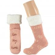 Apollo Meisjes Lets Stay Home huissokken roze maat 25-30