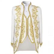Men's 3 Piece Casual Dress Suit Slim Fit Stylish Blazer Coats Jackets & Vest & Trousers