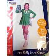 California Costumes Pep Rally Cheerleader Child Costume, Green/White, Medium/8-10