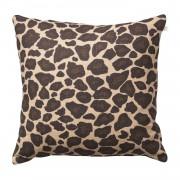 Leopard Kuddfodral 50x50 cm, Beige/ Brun