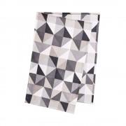 TRIANGLE Flísová deka trojúhelníky - černá/šedá