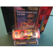 2002 Edition Chase The Race 1:64 Scale Die Cast Racing Champions Collectors Series #32 Tide Racing Ford Tauras Chrome Chase Car Ricky Craven
