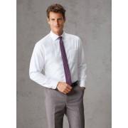 Walbusch Extraglatt-Strukturhemd Weiß 40