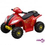 vidaXL Dječji električni Quad bicikl crveni & crni