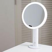≪EKO≫イミラ LEDライト卓上ミラー(ホワイト)