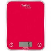 Електронна кухненска везна Tefal BC5003V1, LCD дисплей, Стъклена, Капацитет до 5кг., Цвят малина