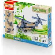 Set creativ piese lego 3 modele elicoptere copii 6ani+ Eco Builds