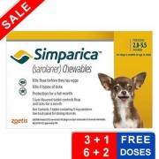 Simparica Chewables For Dogs 2.8-5.5 Lbs (Yellow) 3 Pack