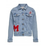 Only Kids Konsoda Badge Dnm Jacket - jeans - Size: 152
