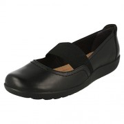 Clarks Women's Medora Ally Black Sneakers - 4 UK/India (37 EU)