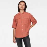 G-star RAW Femmes Joosa Button Up Shirt Rouge