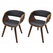 vidaXL Dining Chairs 2 pcs Bentwood and Faux Leather