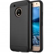 Funda Case Para Motorola Moto G5 Plus Doble Protector De Uso Rudo Armor Con Aspecto Metalico - Negro