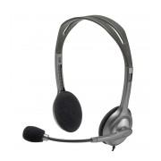 Casti stereo Logitech H111 cu microfon, negre