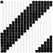 Dunin Black & White mozaika kamienna 30x30 pure B&W diagonal 15 __DARMOWA DOSTAWA OD 1600zł__