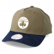 Mitchell & Ness Keps Boston Celtics Denim Visor Olive Adjustable - Mitchell & Ness - Grön Reglerbar
