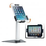 Edimeta Support de table base métal avec antivol pour tablettes