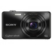 Sony Máquina Fotográfica Bridge Cyber-Shot WX220 (Preto - 18.2 MP - ISO: 100 a 12800 - Zoom Ótico: 10x)