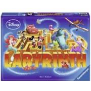 Joc Labirint - Personajele Disney.Contine 1 tabla de joc 34 cartonase cu labirint 24 carti cu caractere 4 piese joc