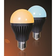 LED CCT Dimmable RF/WiFi Light Bulb - Warm white/Cool white colour mixing