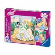PUZZLE Copii 5Ani+ PRINTESELE DISNEY, 3x49 PIESE