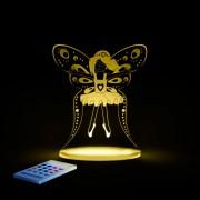 Lampa LED de veghe multicolora Zana cu telecomanda 0.7W 50lm