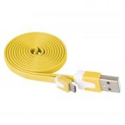 USB-microUSB kábel USB2.0 SÁRGA színű, 1 m