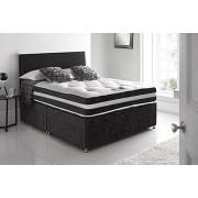 Black Velvet Divan Bed Set & Optional Drawers!